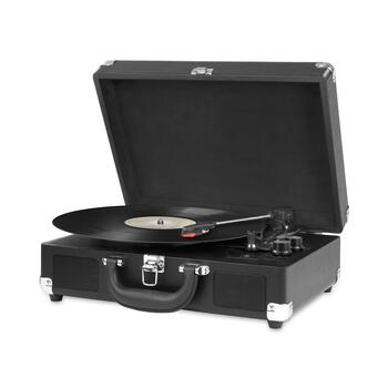 Black Suitcase Bluetooth® Turntable