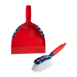 Red/Blue Nautical Icons Dustpan Set