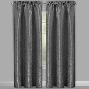 Jacquard Floral Window Curtains, Set of 2 view 2