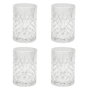 Shannon Cut Double Old-Fashioned Glasses, Set of 4