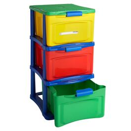 3-Drawer Build & Store Blocks Cart with Wheels
