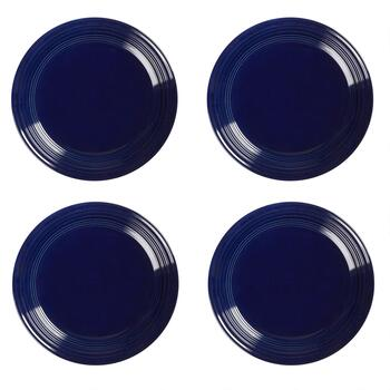 Bistro Basics Solid Cobalt Salad Plates, Set of 4