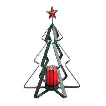 "11"" Metal Christmas Tealight Holder Tree"