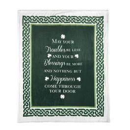 Irish Blessing Sherpa Throw Blanket