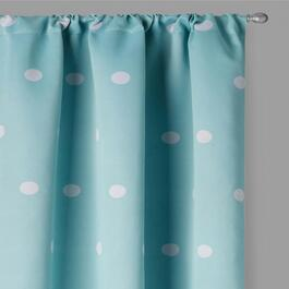 "LaLa + Bash 84"" Dots Blackout Window Curtains, Set of 2"