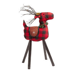 "26.5"" Lighted Plaid Reindeer Decor view 1"