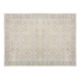 The Grainhouse™ Beige/Gray Floral Diamond Area Rug view 1