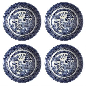 Blue Willow Imperial Cereal Bowls, Set of 4