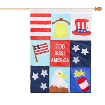"40"" ""God Bless America"" Yard Flag"