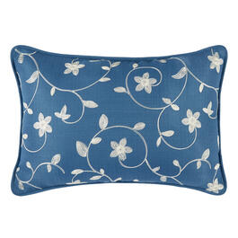 Waverly® Blue Floral Indoor/Outdoor Oblong Throw Pillow view 1