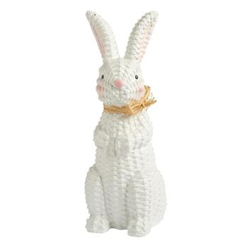 Basketweave Paper Mache Bunny Decor