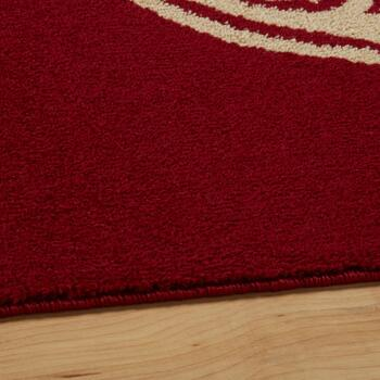 Red Medallions Area Rug view 2