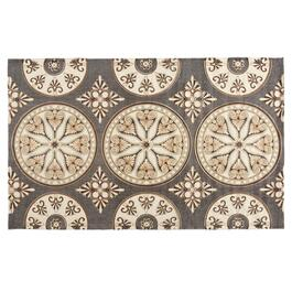 "The Grainhouse™ 27""x45"" Gray/Ivory Medallions Accent Rug"