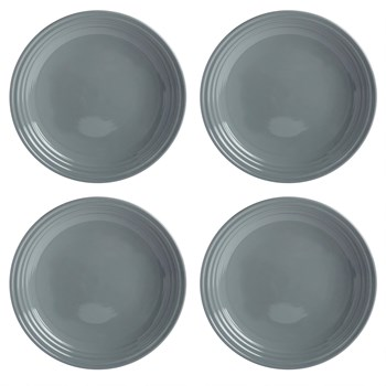 Bistro Brights Gray Dinner Plates, Set of 4