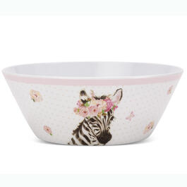 Kids Zebra Floral Bowl view 1