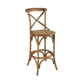 "46"" Rustic French Wood Barstool"