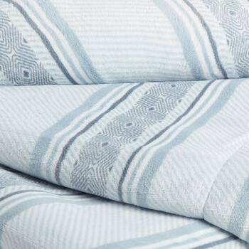 Blue/White Turk Striped Diamond Throw view 2
