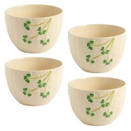 Shamrock Basketweave Cereal Bowls, Set of 4