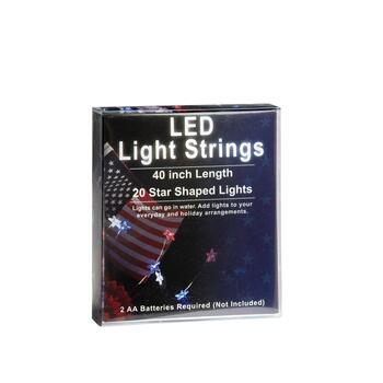 "40"" Red, White and Blue LED Star String Lights, Set of 2 view 2 view 3"