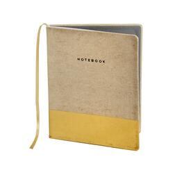 The Grainhouse™ Golden Trim Hardcover Bound Notebook