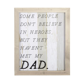 "17""x14"" ""Dad"" Striped Wood Framed Wall Decor view 1"