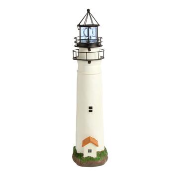 "30.25"" Cape May Solar Lighthouse with Rotating Beacon"