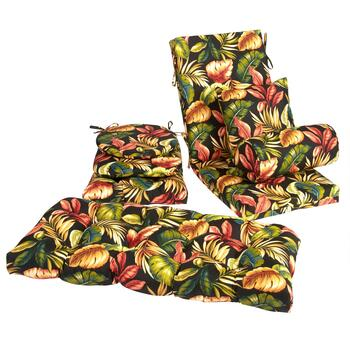 Palm Floral Indoor/Outdoor Chair Cushions Collection