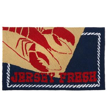 "30""x18"" ""Jersey Fresh"" Lobster Rug"
