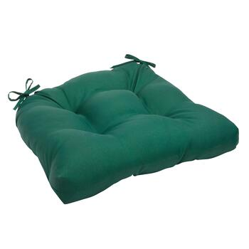 Solid Hunter Green Indoor/Outdoor Single-U Seat Pad