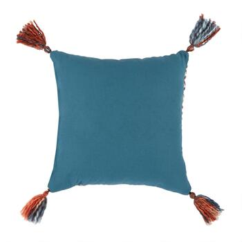 "The Grainhouse™ 18"" Tribal Geo Tassel Square Throw Pillow view 2"