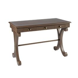 Brown 3-Drawer Curved Legs Table