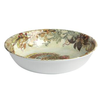 Fall Turkey Melamine Serving Bowl view 2