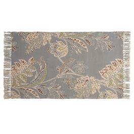 "Coastal Living Seascapes™ 27""x45"" Gray Floral Accent Rug"