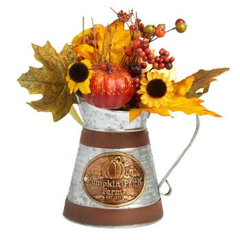 Pumpkins Metal Watering Can