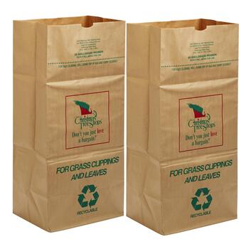 Lawn and Leaf Paper Bags, 10-Pack