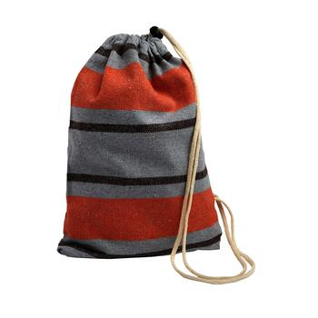 Gray/Orange Stripes Hammock in a Bag view 2