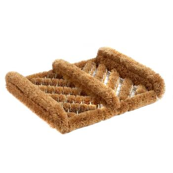 Small Coir Diagonal Line Boot Scraper Door Mat