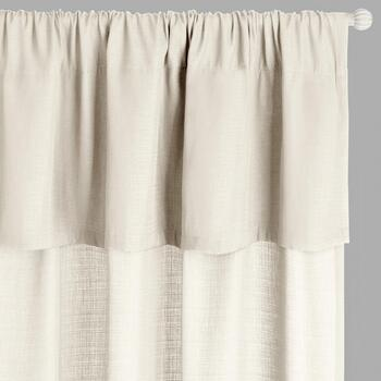 "96"" Valance-Attached Window Curtains, Set of 2"
