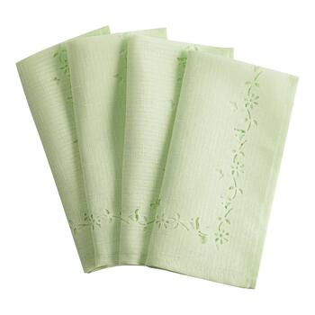 Pastel Laser-Cut Napkins, Set of 4
