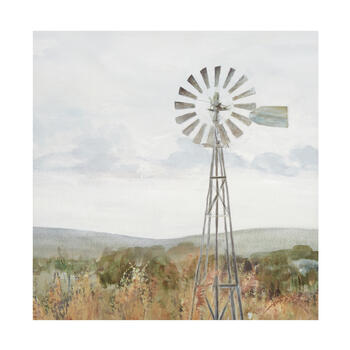 "20"" Painted Windmill Canvas Wall Art view 1"