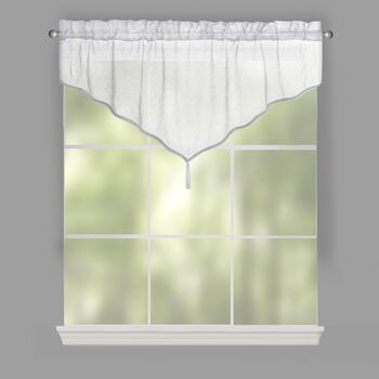 Crushed Voile Tassel Valances, Set of 2