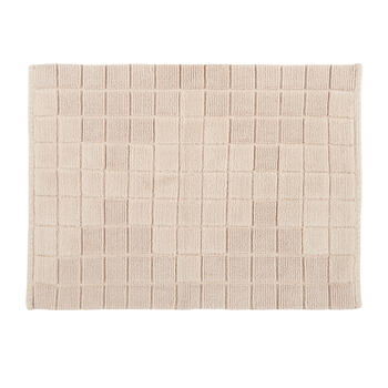 Chenille Squares Cotton Bath Mat view 1