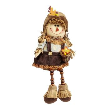 "8"" Sitting Girl Scarecrow Doll"