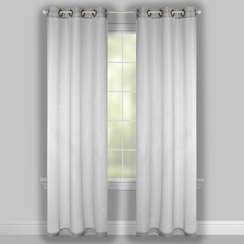 "84"" Fancy Grommet Sheer Shimmer Window Curtains, Set of 2 view 2"