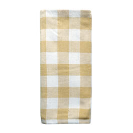 Yellow Plaid Ombre Kitchen Towel view 1