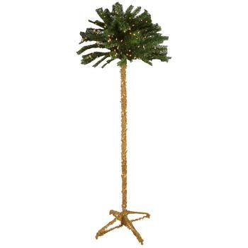 7' Artificial Lighted Palm Tree