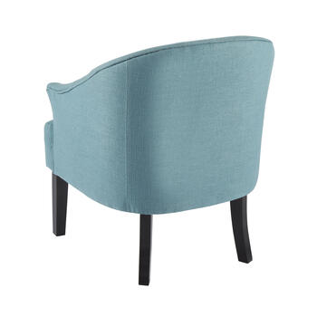 Round U-Back Upholstered Arm Chair view 2