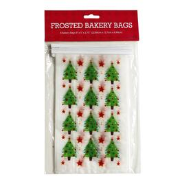 Christmas Tree Holiday Cellophane Treat Bags, 8-Count