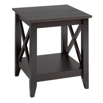 Milan Espresso X-Sided End Table