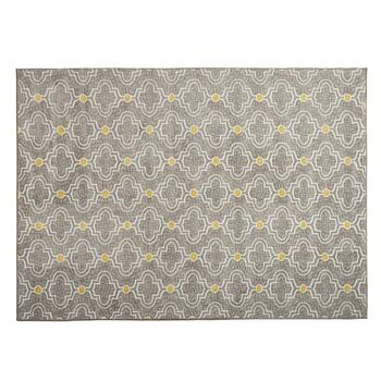 5'x7' Gray/Yellow Frette Area Rug
